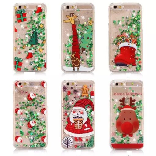 Glitter Christmas Phone Case, Glitter Christmas Phone Case