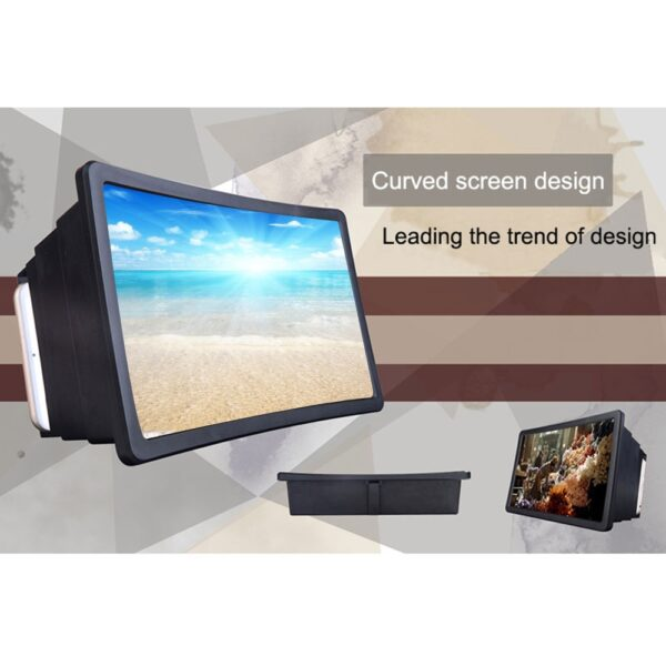 Mobile Phone Screen Magnifier Video Expander 3D Screen Amplifier Stand Holder for Movie Display Magnifying Screen 3