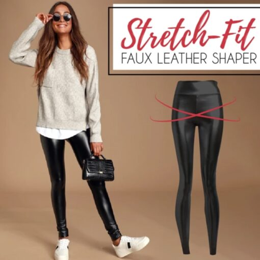 Stretch-Fit Faux Leather Shaper, Stretch-Fit Faux Leather Shaper