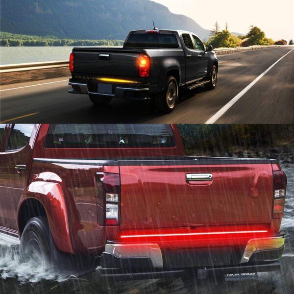 Niscarda 60 Truck Tailgate LED Strip Light Bar Triple Row 5 Function With Reverse Brake Turn 5