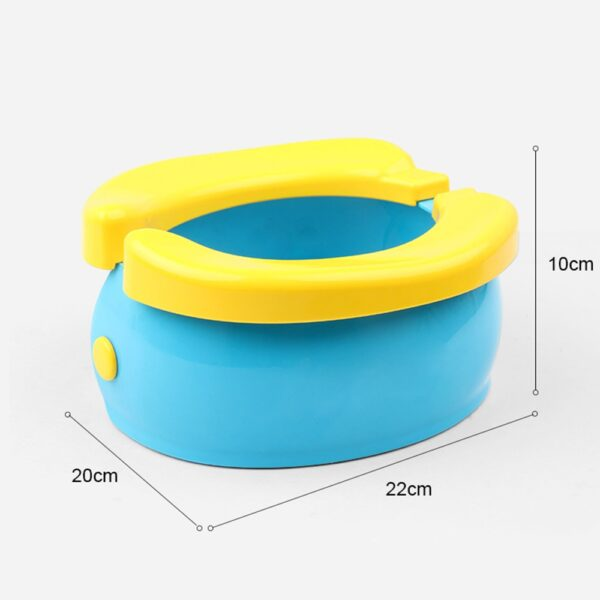 Portable Baby Infant Foldable Chamber Pots Foldaway Toilet Urinal Training Seat Travel Potty Rings For Kids 2