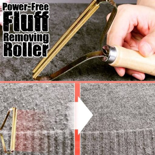Power-Free Fluff Removing Roller, Power-Free Fluff Removing Roller
