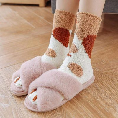Winter Cat Claws Warm Sleep Floor Socks, Winter Cat Claws Warm Sleep Floor Socks