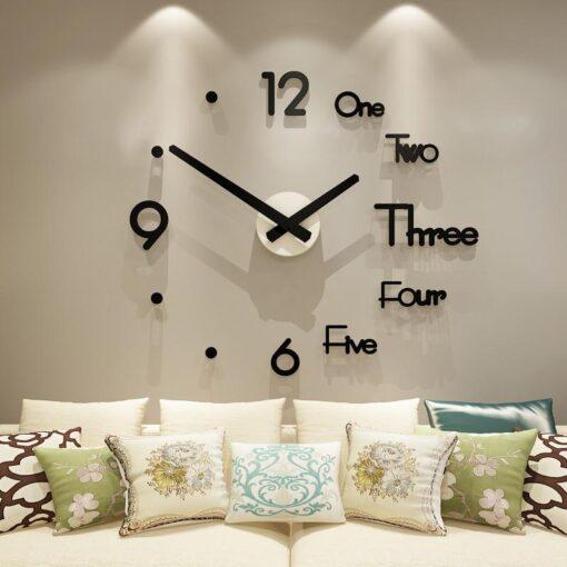 DIY Large Silent Wall Clock 3D Wall Sticker, DIY Large Silent Wall Clock 3D Wall Sticker