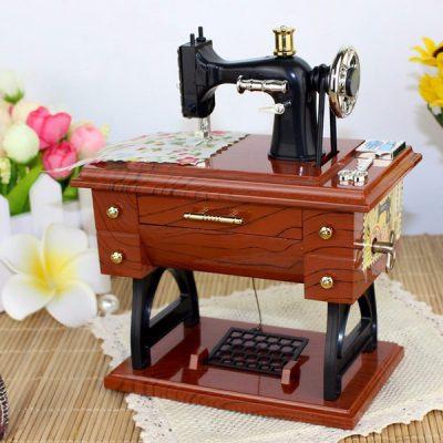 Sewing Machine Music Box, Mini Sewing Machine Music Box