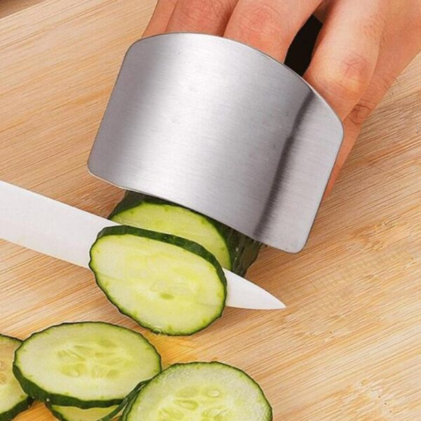 1 Pcs Finger Guard Protect Finger Hand Cut Hand Protector Knife Cut Finger Protection Tool Stainless 4