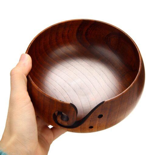 Handmade Wooden Yarn Bowl, Handmade Wooden Yarn Bowl