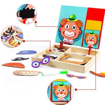 Magnetic Puzzle Set, 3D Magnetic Puzzle Set