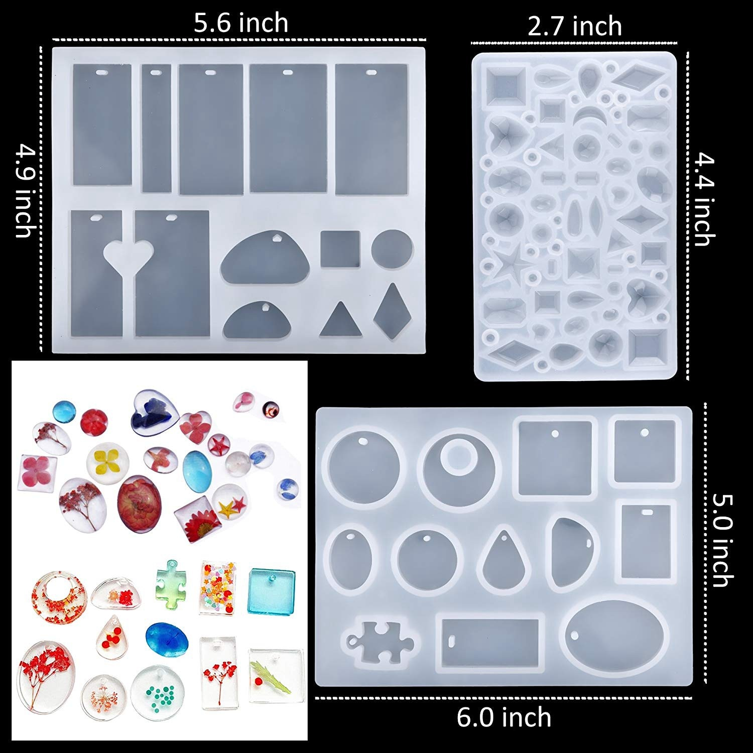 Handmade Crystal Glue Mould Jewelry Best Diy Kit Silicone Mold Art Set 83//94Pcs