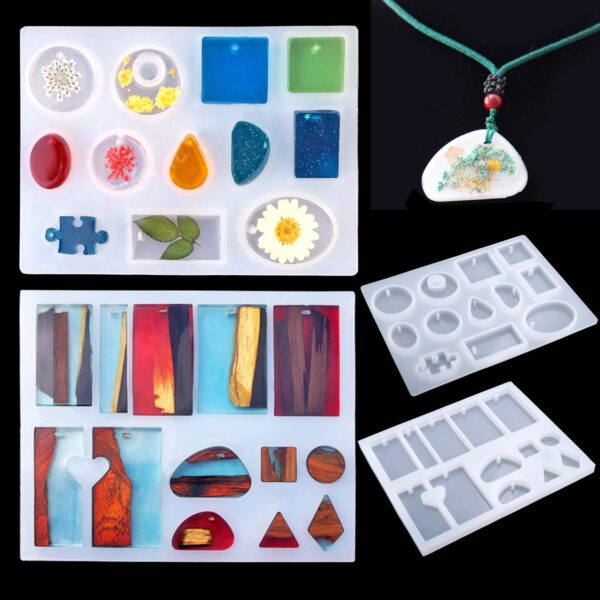 83 Pieces Silicone Casting Molds And Tools Set With A Black Storage Bag For Diy Jewelry 4