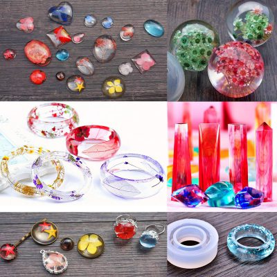 DIY Crystal Glue Jewelry Mold 83 Pcs Set, DIY Crystal Glue Jewelry Mold 83 Pcs Set