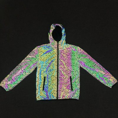 Colorful Stripe Reflective Jacket, Colorful Stripe Reflective Jacket