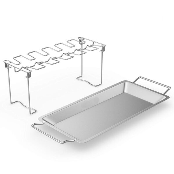 Chicken Duck Holder Rack Grill Stand Stainless Steel Chicken Wing Leg Rack Grill Holder with Drip 1