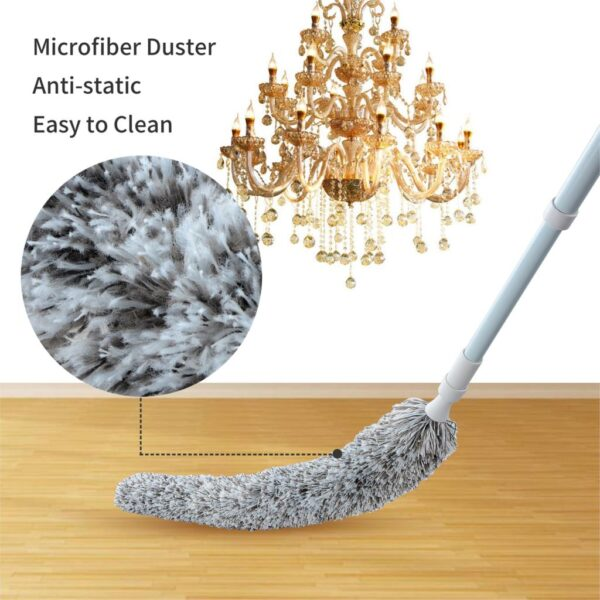 Creative Stretch Extend Microfiber Dust Shan Adjustable Feather Duster Household Dusting Brush Cars Cleaning Kitchen Accessories 4