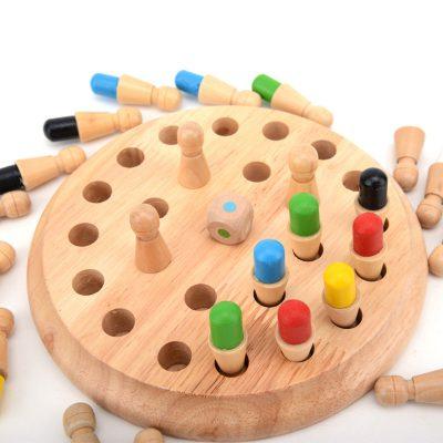 Wooden Memory Chess Game, Wooden Memory Chess Game