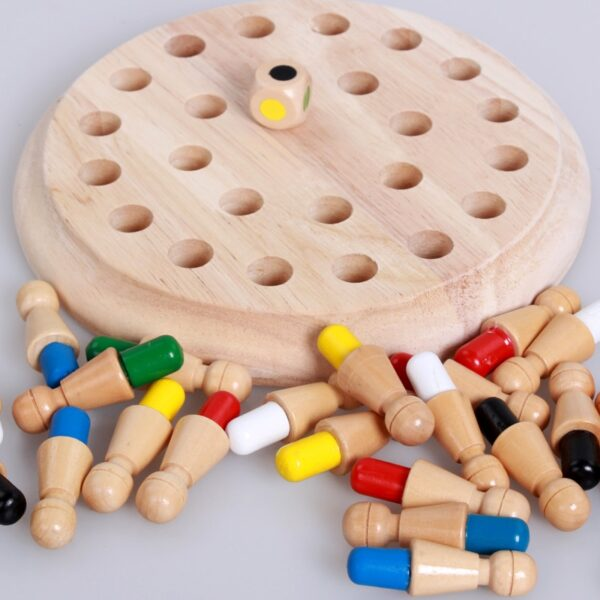 Kids party game Wooden Memory Match Stick Chess Game Fun Block Board Game Educational Color Cognitive 4