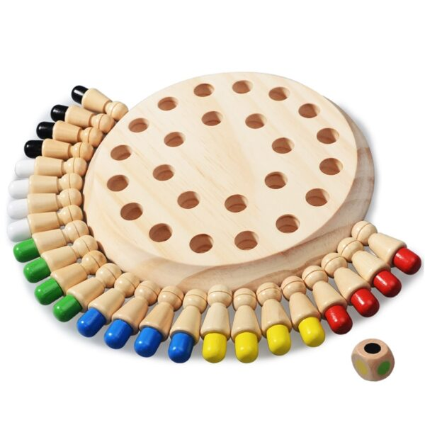 Kids party game Wooden Memory Match Stick Chess Game Fun Block Board Game Educational Color Cognitive 5