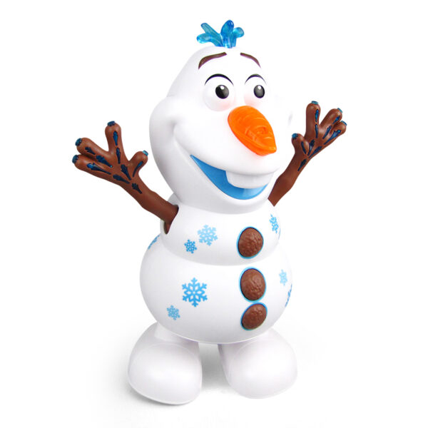 Snowman Olaf Electric Toys Dance Moves Light Music Cartoon Plastic Toy Boys And Girls Christmas Gifts 1