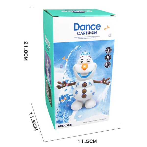 Snowman Olaf Electric Toys Dance Moves Light Music Cartoon Plastic Toy Boys And Girls Christmas Gifts 4