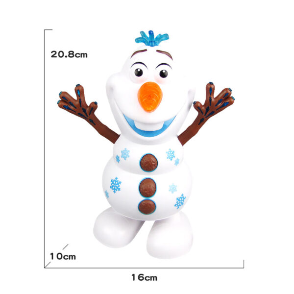 Snowman Olaf Electric Toys Dance Moves Light Music Cartoon Plastic Toy Boys And Girls Christmas Gifts 5