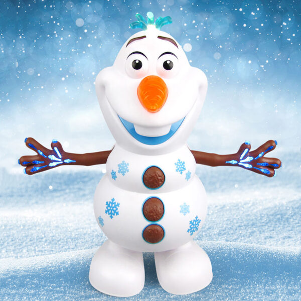 Snowman Olaf Electric Toys Dance Moves Light Music Cartoon Plastic Toy Boys And Girls Christmas Gifts