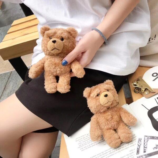 Winter Cute Plush Bear for Apple Airpods Case1 2 Teddy Bear Bags for Cartoon Headphones Case 1