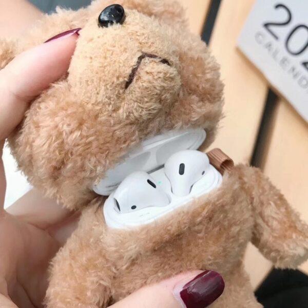 Winter Cute Plush Bear for Apple Airpods Case1 2 Teddy Bear Bags for Cartoon Headphones Case 2