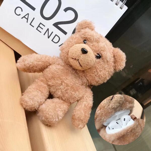 Cartoon Teddy Bear Airpod Case Cover