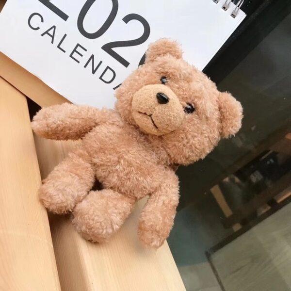 Winter Cute Plush Bear for Apple Airpods Case1 2 Teddy Bear Bags for Cartoon Headphones