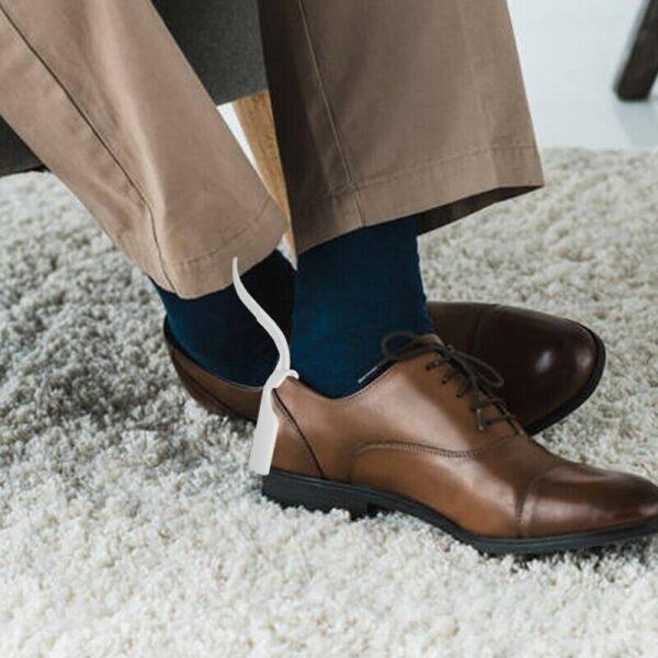 2PCS Lazy Unisex Wear Shoe Horn Helper Shoehorn Shoe Easy on and off Shoe Sturdy Slip 5