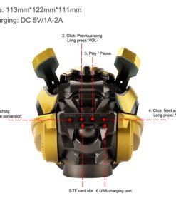 High-end Bumblebee Helmet Speaker, High-end Bumblebee Helmet Speaker