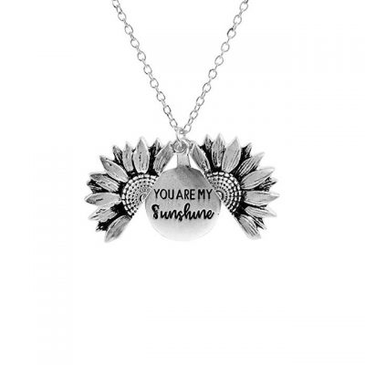 You Are My Sunshine Sunflower Necklace, You Are My Sunshine Sunflower Necklace