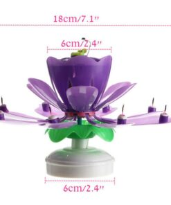 Upgrade Multicolor Rotating Lotus Cake Candle, Upgrade Multicolor Rotating Lotus Cake Candle