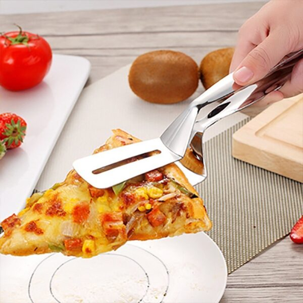 Kitchen accessories Stainless Fried Steak Shovel Barbecue Tongs Fish Shovel BBQ Clamp utensils Bread meat clip 1
