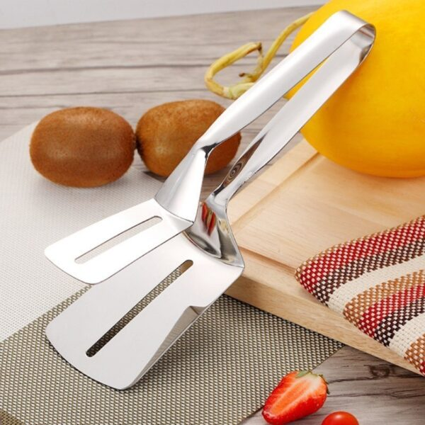 Kitchen accessories Stainless Fried Steak Shovel Barbecue Tongs Fish Shovel BBQ Clamp utensils Bread meat clip 2