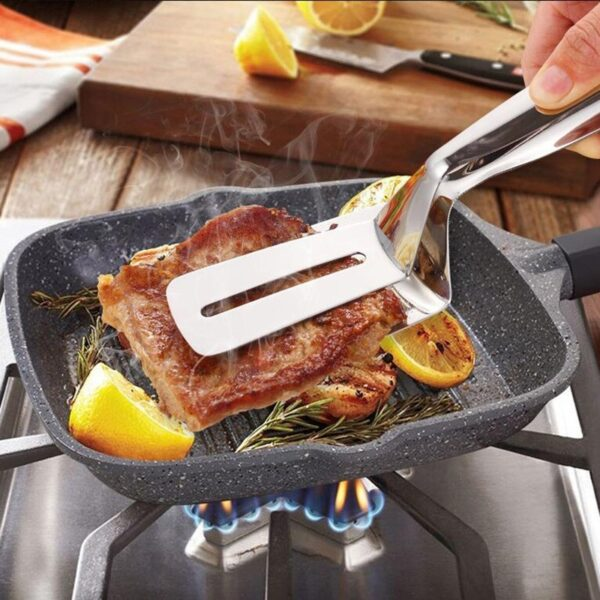 Kitchen accessories Stainless Fried Steak Shovel Barbecue Tongs Fish Shovel BBQ Clamp utensils Bread meat clip