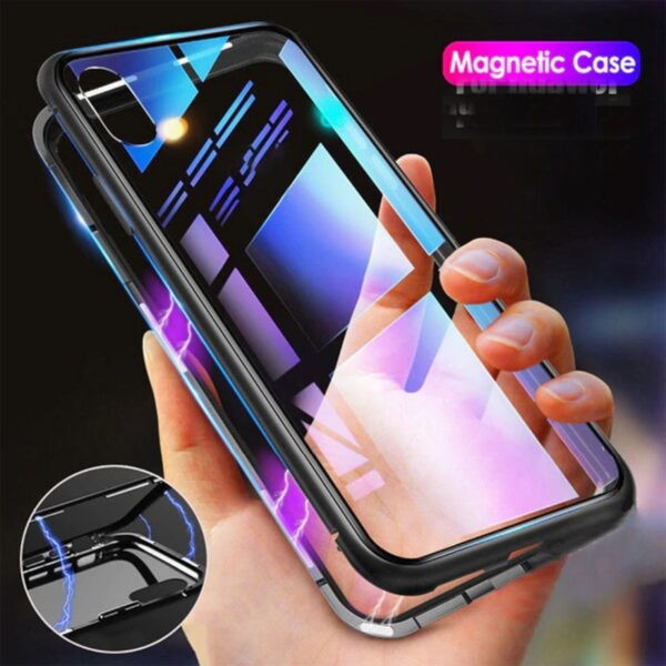 Metal Magnetic Adsorption Case For iphone 11 XR 7 8 Plus X XS Pro Max 6