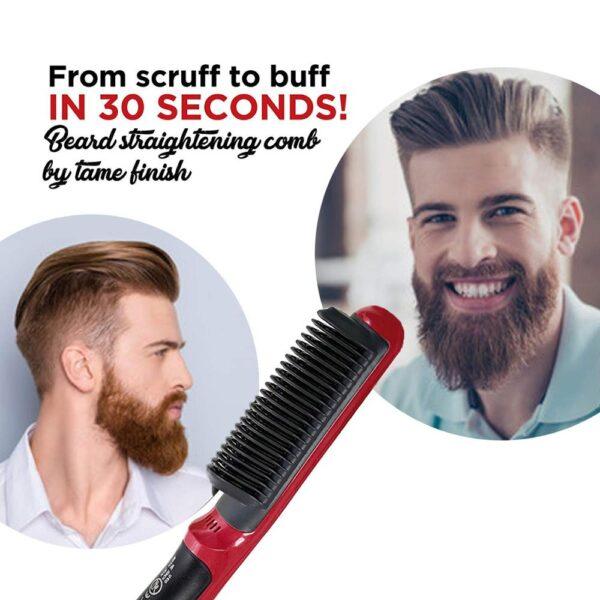 Multifunctional Beard Straightener Styler Brush Men Heat Hair Ceramic Curler Electric Straightener Hot Comb Hair Care 2