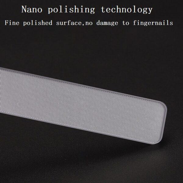 Professional Nano Glass Nail File Transparent Sanding Polishing Grinding Nail Art Manicure 2