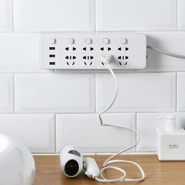 Self adhesive Socket Fixer Wall Mounted Remote Control Router Sticker Cable Wire Organizer Home Holder Storage 2
