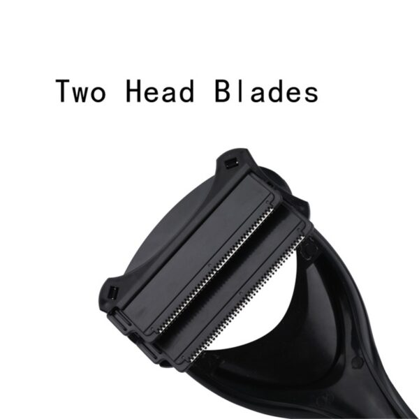 Men Back Shaver Tools Folding Double Cutter Head Long Handle Removal Razors For Hair 2 0 2
