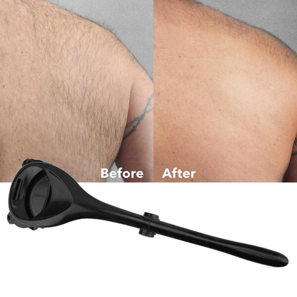 Men Back Shaver Tools Folding Double Cutter Head Long Handle Removal Razors For Hair 2 0 3