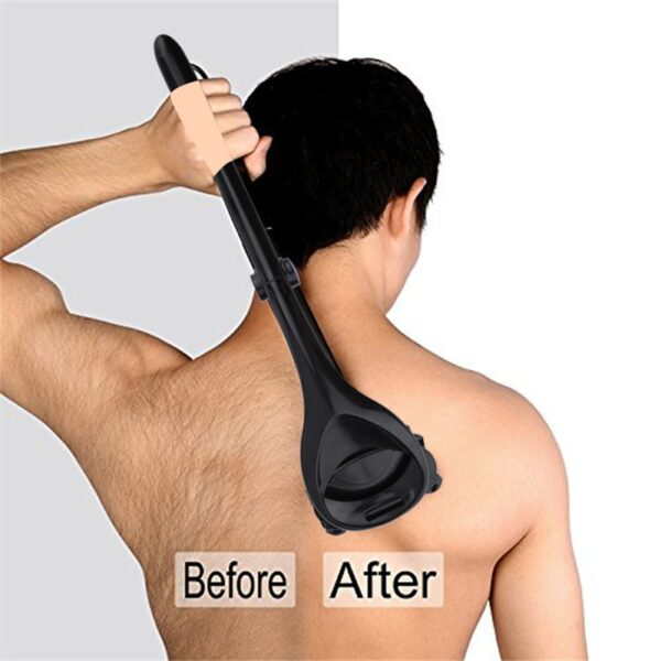Men Back Shaver Tools Folding Double Cutter Head Long Handle Removal Razors For Hair 2 0