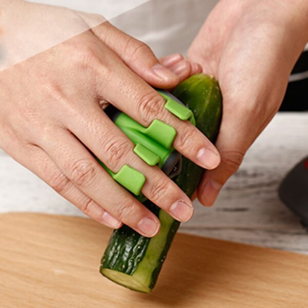 New Fruit Peeler Stainless Blade Lemon Grapefruit Fruit Slicer Double Fingers Opener Cutter Quickly Stripping Kitchen 4