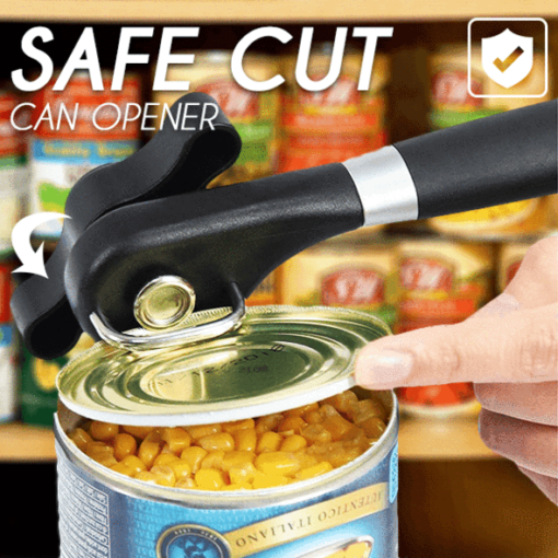 Stainless Steel Safe Cut Can Opener, Stainless Steel Safe Cut Can Opener