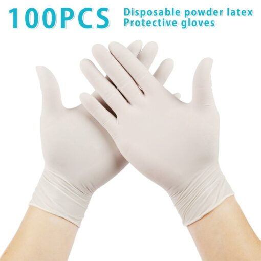 Disposable Latex Gloves, 100PCS Disposable Latex Gloves