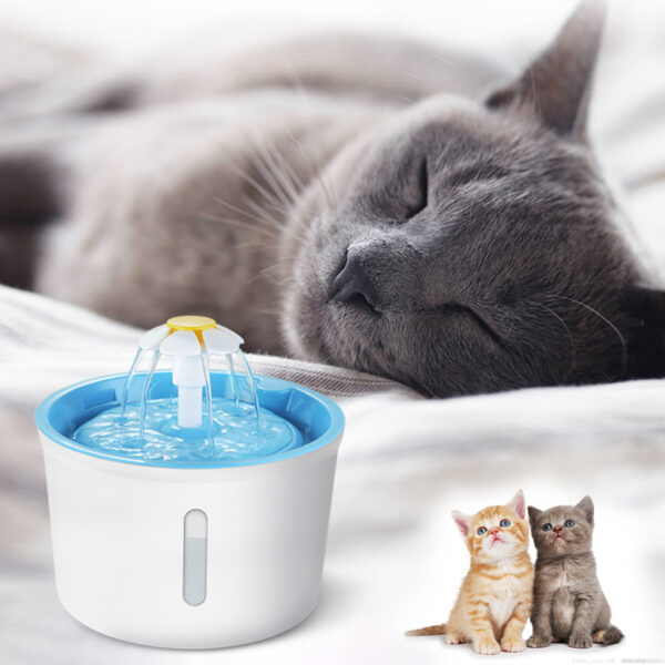 2 4L Cat Dog Water Fountain Automatic LED Electric USB Dog Pet Mute Drinker Feeder Bowl