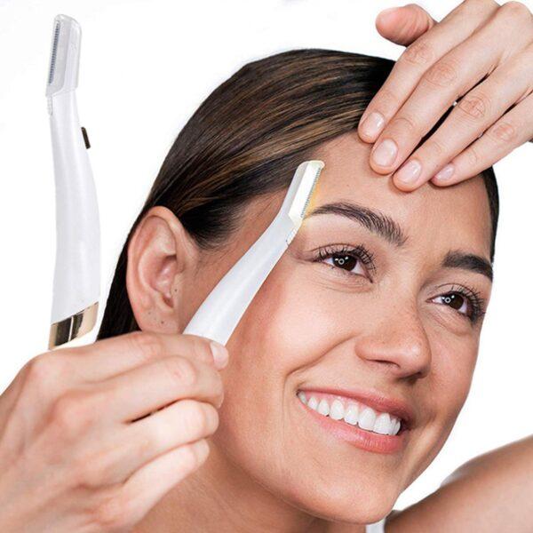 Electric Face Eyebrow Hair Remover Epilator Mini Eyebrow Shaver Razor Instant Painless Shaving Eyebrow Trimme