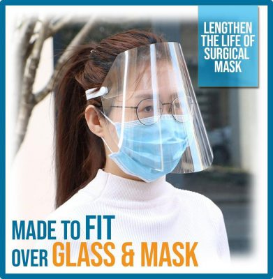 Full-Cover Anti-Droplets Face Shield, Full-Cover Anti-Droplets Face Shield