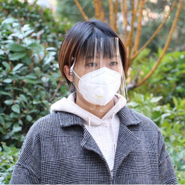 1PC ປ້ອງກັນທີ່ສາມາດປັບໄດ້ Anti Droplet Dust proof Full Cover Cover Mask Visor Shield Droplet virus Windproof 1